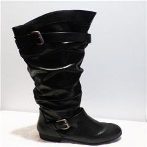 Rampage Basking Flat Knee-High Synthetic Boots,